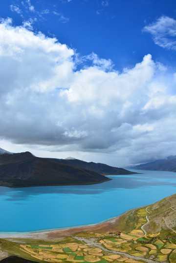 西藏羊卓雍措湖景致图片