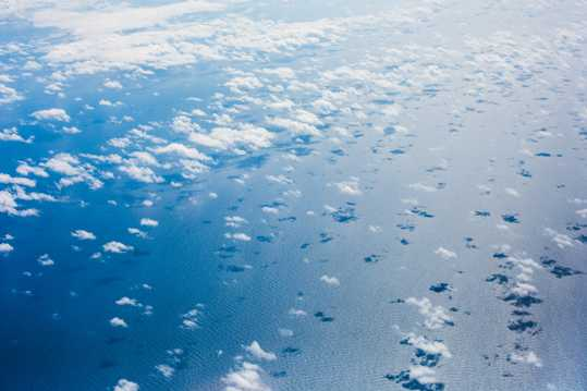 太平洋上空的云海