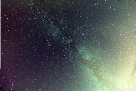恢宏的宇宙银河光景