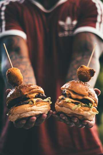 美味的汉堡图片