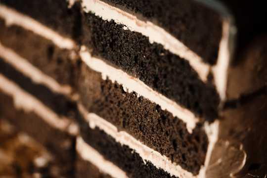 唯美的提拉米苏蛋糕图片