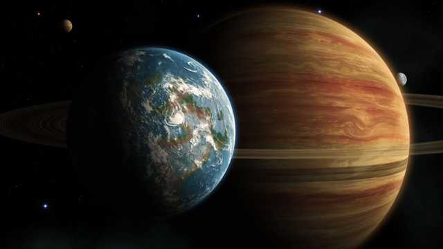 木星和地球图片