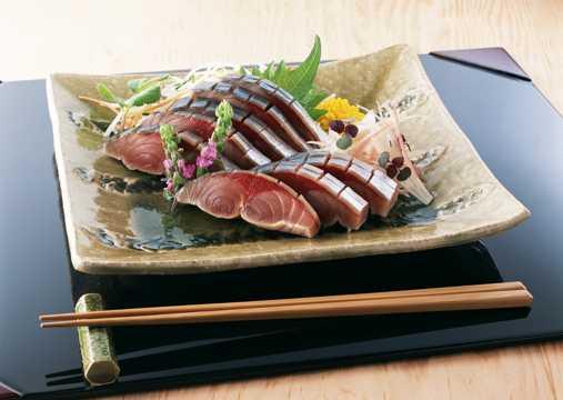 美味的生鱼片图片