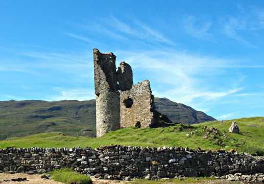 英国苏格兰城堡建筑遗址