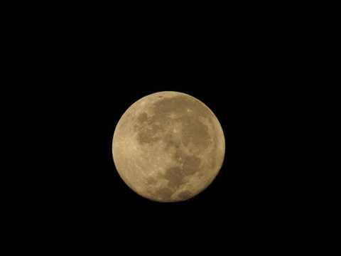 夜空中的圆月
