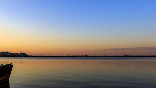 山西晋阳湖景象图片