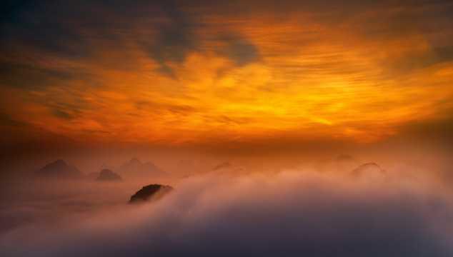 云南普者黑自然风光图片