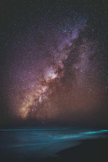 唯美银河夜空