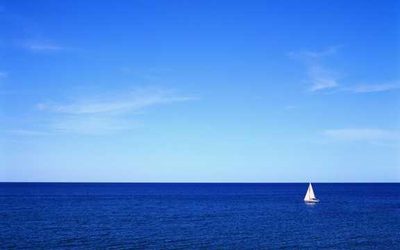 海洋与帆船高清图片
