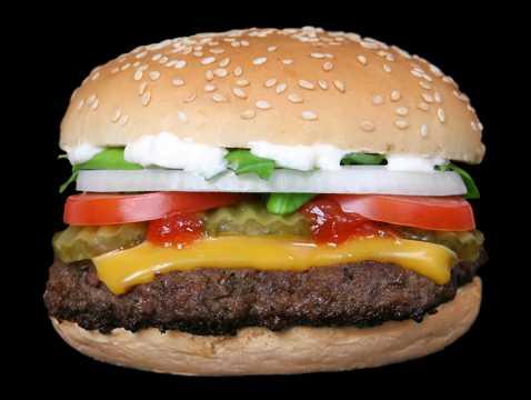 美味的汉堡