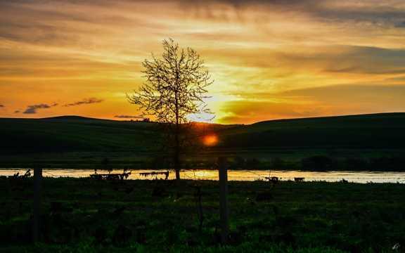 内蒙古草场自然风光图片