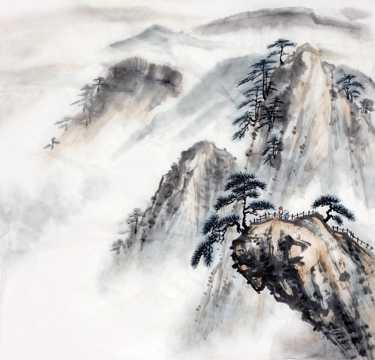 高清水墨山川图片