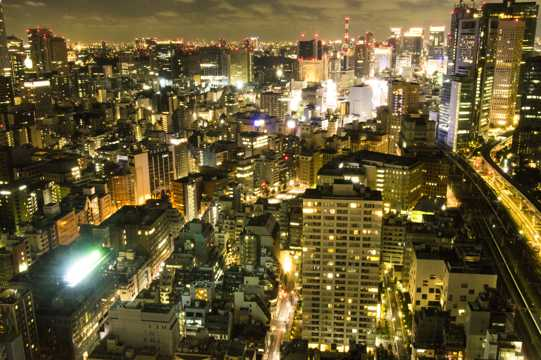 日本东京的夜景