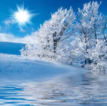唯美的冬日冰雪世界
