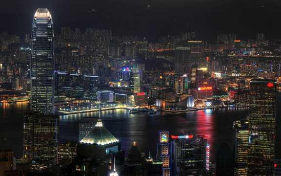 香港都市风光都市夜景