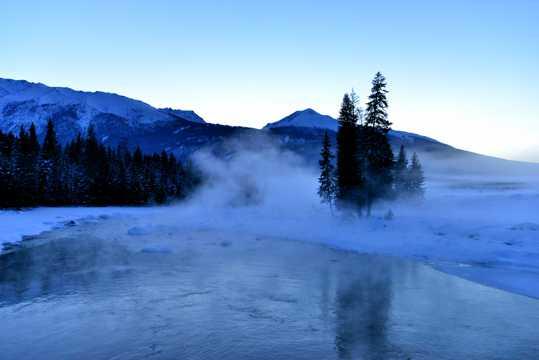 冬天北疆景致图片