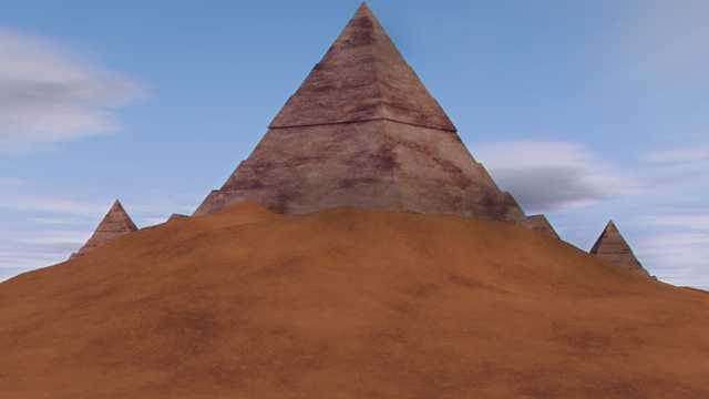 戈壁金字塔尖塔图片