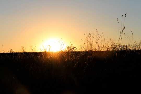 暮色日落光景图片
