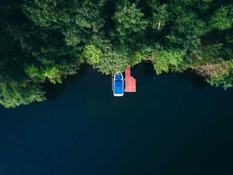 精美的航拍岛屿图片