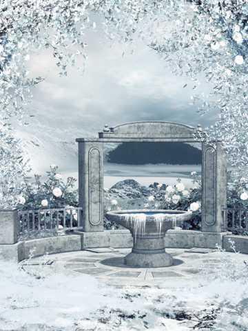 典雅的冬日石门雪景