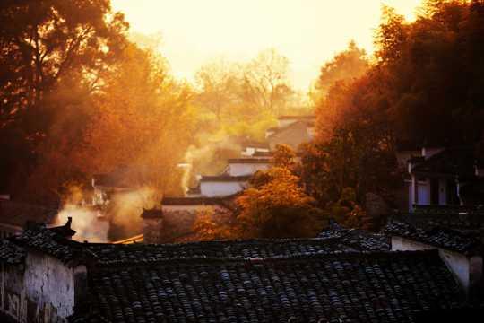 秋日里的安徽塔川风光图片