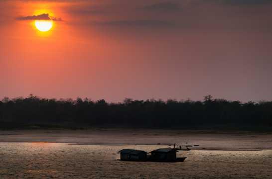 东南亚湄公河风光图片